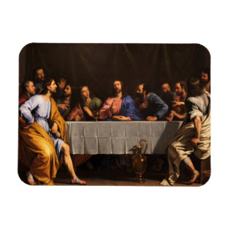 The Last Supper with Disciples Rectangular Photo Magnet