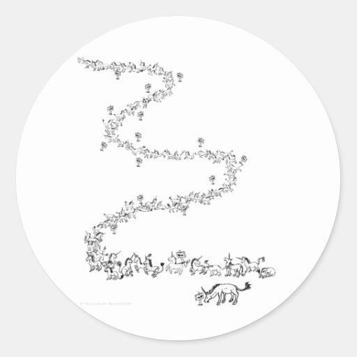 """The Last Unicorn"" Classic Round Sticker"