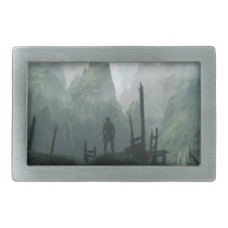 The Last Warrior of The Mountain Clan Rectangular Belt Buckle