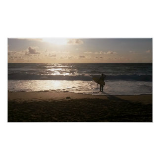 The Last Wave Surfer Fistral Beach Newquay Print