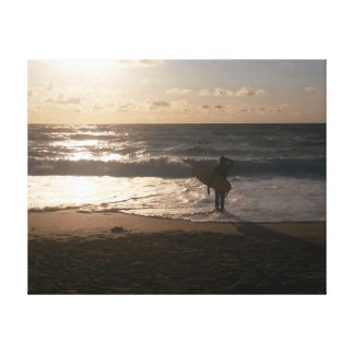 The Last Wave Surfer Fistral Newquay Canvas Print