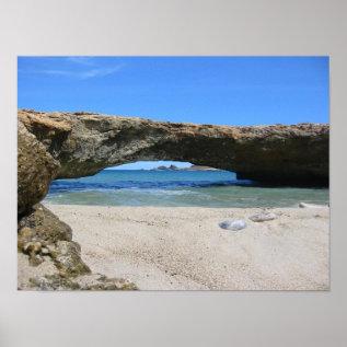 The Late Aruba Natural Bridge Poster at Zazzle