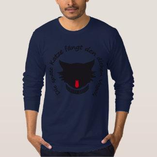 The late cat V-cutout T-shirt