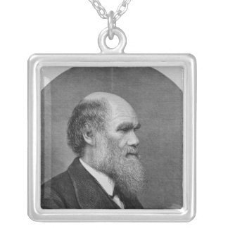 The Late Mr C. R. Darwin, FRS, LLD Silver Plated Necklace
