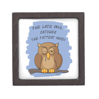 The Late Owl Catches The Fattest Mice! Gift Box