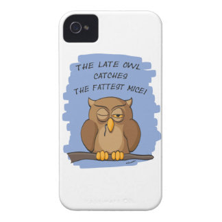 The Late Owl Catches The Fattest Mice! iPhone 4 Cover