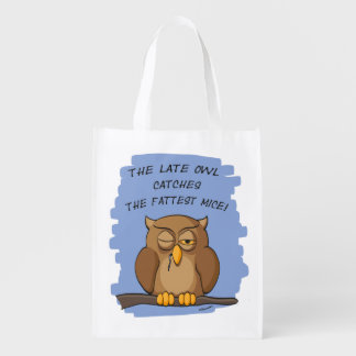 The Late Owl Catches The Fattest Mice! Market Totes
