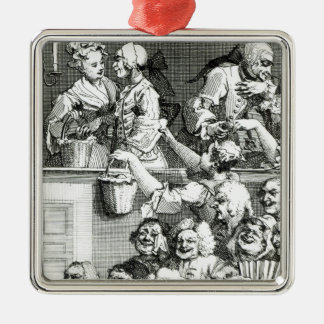 The Laughing Audience, 1733 Metal Ornament