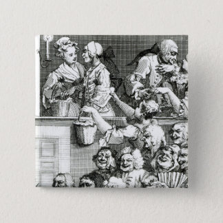 The Laughing Audience, 1733 Pinback Button
