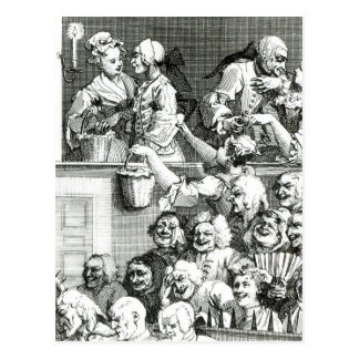 The Laughing Audience, 1733 Postcard