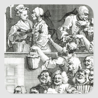 The Laughing Audience, 1733 Square Sticker