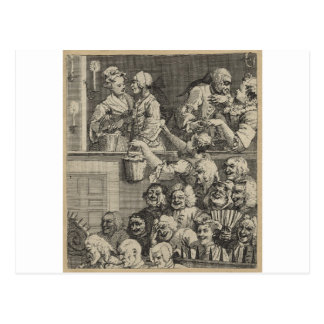 The Laughing Audience by William Hogarth Postcard