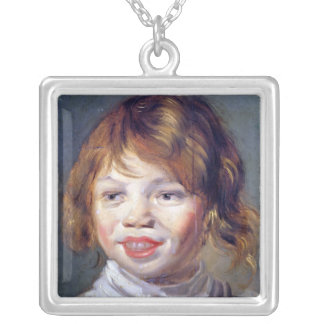 The Laughing Child Silver Plated Necklace
