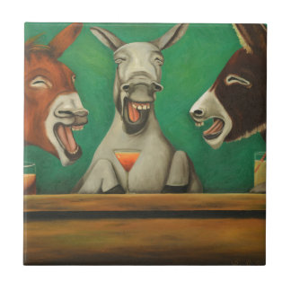 The Laughing Donkeys Ceramic Tile