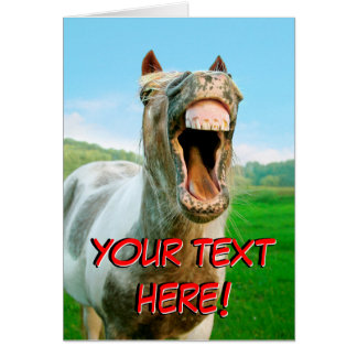 The laughing horse. cards