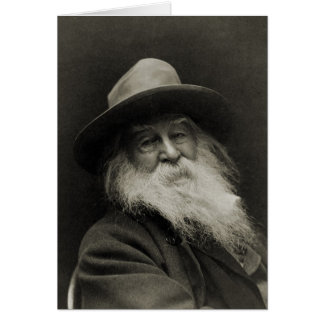 The Laughing Philosopher Poet Walt Whitman Card