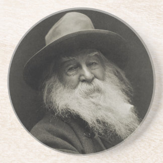 The Laughing Philosopher Poet Walt Whitman Drink Coaster