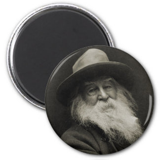 The Laughing Philosopher Poet Walt Whitman Magnet