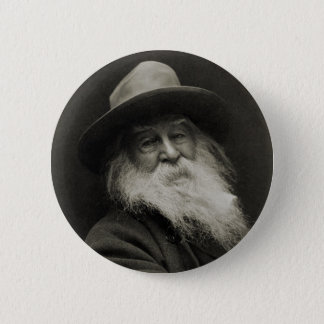 The Laughing Philosopher Poet Walt Whitman Pinback Button