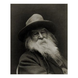 The Laughing Philosopher Poet Walt Whitman Poster