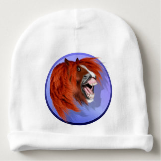 THE LAUGHING PONY BABY BEANIE