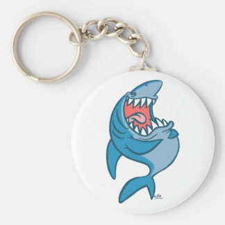 The Laughing Shark cartoon keychain