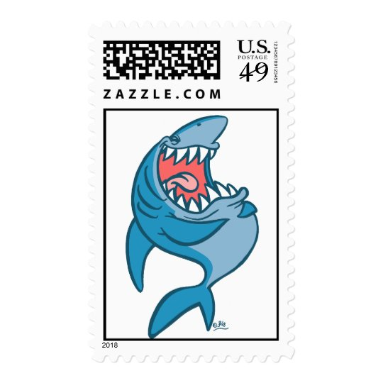 The Laughing Shark cartoon postage stamp
