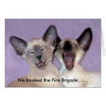 The Laughing Siamese Greeting Card