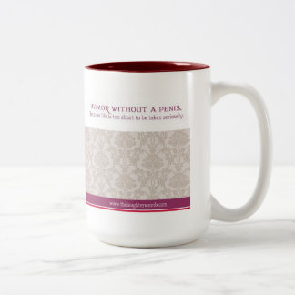 The Laughter Womb 15 oz mug maroon