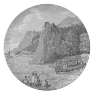 The Launch of the North West America at Nootka Sou Melamine Plate