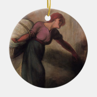 The Laundress, 1894 (oil on canvas) Ceramic Ornament