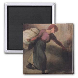 The Laundress, 1894 (oil on canvas) Fridge Magnet
