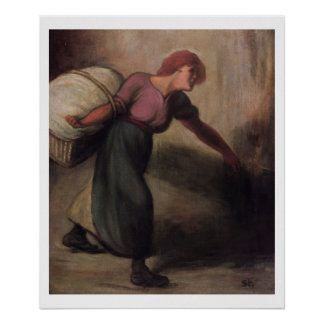 The Laundress, 1894 (oil on canvas) Poster