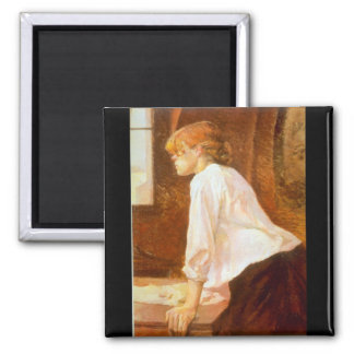 The Laundress by Toulouse-Lautrec Magnets