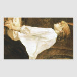 The Laundress by Toulouse-Lautrec Rectangular Stickers