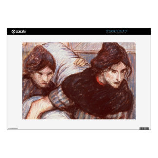 """The Laundresses, 1898 (pastel on canvas) 15"""" Laptop Decal"""