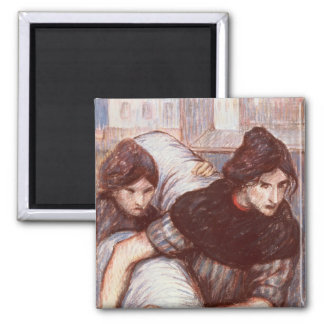 The Laundresses, 1898 (pastel on canvas) Refrigerator Magnet