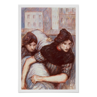 The Laundresses, 1898 (pastel on canvas) Poster