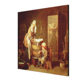 The Laundry Woman Canvas Print