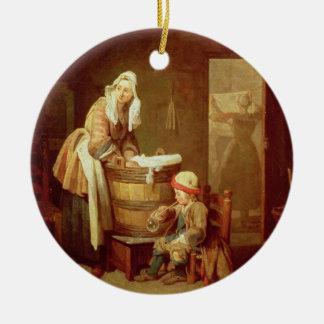 The Laundry Woman Ceramic Ornament