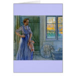 The Laundry Woman Looking at Washboard Card