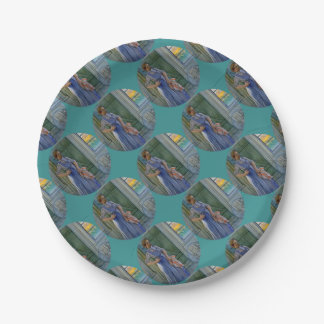 The Laundry Woman 7 Inch Paper Plate
