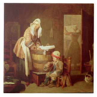 The Laundry Woman Tile