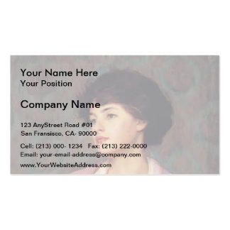 The Lavalier by Guy Rose Business Card Templates