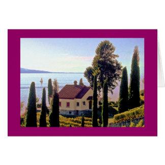 the Lavaux Region, Lake Geneva, Switzerland Card