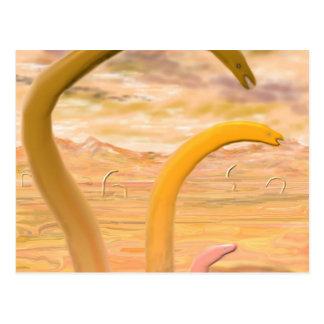 """The Lavaworms"" Horizontal Postcard"