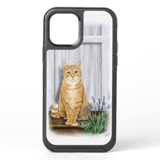The Lavender Door Orange Ginger Cat OtterBox Symmetry iPhone 12 Case
