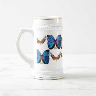 The LaVonna Harris Butterfly Beer Mug #2