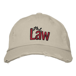 The Law - Embroidered - Hat (Beige)