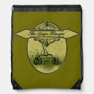 The Lawn Ranger Drawstring Bag